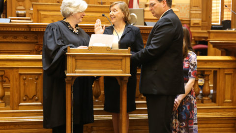 Dr. Kay Kirkpatrick M.D. Officially Sworn In As State Senator